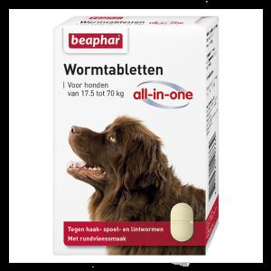 Wormtabletten - all in one - honden van 17.5 kg tot 70 kg