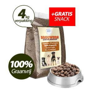 Graanvrij - Superieur (Premium) Senior/Light Kip & Aardappel - 4 kg + GRATIS SNACK