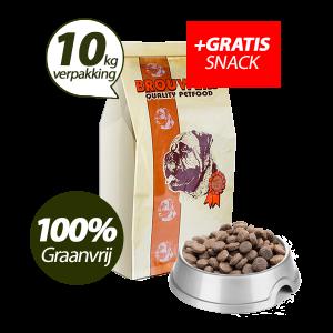 Graanvrij - Superieur (Premium) Senior/Light Kip & Aardappel - 10 kg + GRATIS SNACK