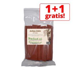 Jerkey Strips Zalm 13cm - 20 stuks - 1 + 1 Gratis!