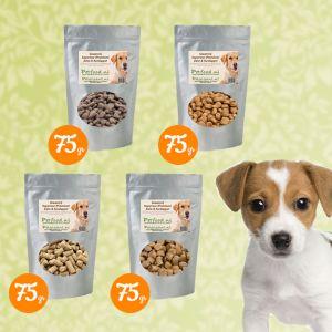 Puppy & Junior hond - Proefpakketje - 4 Samples naar keuze € 1,99 thuisbezorgd!