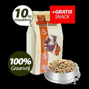 Graanvrij - Superieur (Premium) Geperste Brokken Eend & Aardappel - 10 kg + GRATIS SNACK