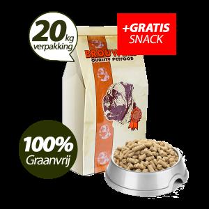 Graanvrij - Superieur (Premium) Geperste Brokken Eend & Aardappel - 20 kg + GRATIS SNACK