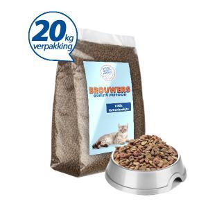 6 Mix Krokante Kattenbrokjes - 20 kg (= 2 x 10 kg)